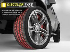 Discolor Tyre - This concept tire turns orange when it's time for a new set of tires.