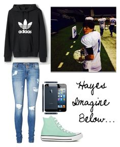 """Hayes Grier Imagine Below..."" by magcon-outfits-o2l ❤ liked on Polyvore featuring adidas, Vero Moda and Converse"