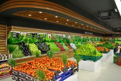 This #supermarket is overflowing with produce! Maybe they could use a few more shelving units.