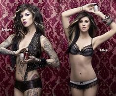 kat von d the wonders of makeup and photoshop it's pretty incredible.