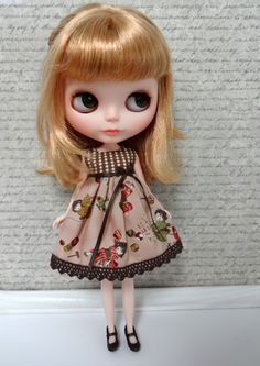 Pink and Brown Kimono Dolls Playing With Toys Blythe Doll Dress. $18.00/£11.71, Blythette @ etsy