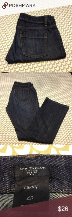 Ann Taylor Jeans Anne Taylor Curvy Bootcut Jeans Size 4 petite. Inseam 30 Length 37. Excellent preloved condition. Ann Taylor Jeans Boot Cut
