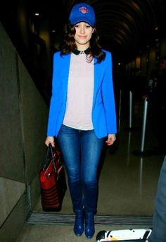 Emmy Rossum in Reese and RiIley Ex Boyfriend Blazer. browse Board or Pins for more.