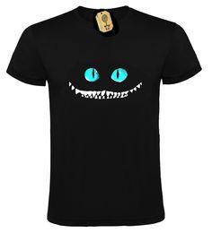Camiseta Gato Cheshire de GlobodePapel en Etsy