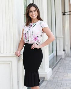 Short Sleeve Dresses, Dresses With Sleeves, Business Casual, Vogue, Spring Summer, Floral, 1, Traditional, Outfits