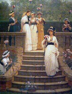 Rose Queen   George Dunlop Leslie, United kingdom, 1835-1921