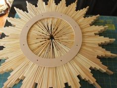 Very Cool Homemade Sunburst Mirror Of Wood Shims | Shelterness