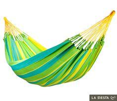 La Siesta Colombian Sonrisa Hammock - Weatherproof, Single at Sierra. Outdoor Hammock, Outdoor Rocking Chairs, Hammock Swing, Hammock Chair, Outdoor Rooms, Outdoor Furniture, Outdoor Decor, Hammocks, Double Hammock