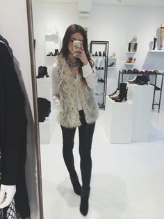 everyday style. I like the pattern of that (hopefully faux) fur vest