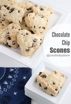 Get your family up on Valentine's Day morning with these Chocolate Chip Scones.