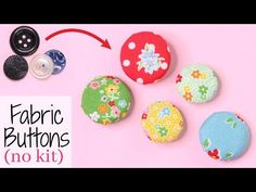 Save money by learning how to make fabric buttons without a kit or machine. Fast & easy tutorial how to create original fabric buttons in just a few minutes Crochet Buttons, Diy Buttons, How To Make Buttons, Sewing Crafts, Diy Crafts, Sewing Tips, Sewing Projects, Diy Clothes Design, Diy Tassel Earrings