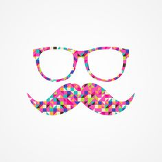 Funny Girly Pink Abstract Mustache Hipster Glasses Art Print by Railton Road Ipad Mini Cases, Ipad Case, Ipad Tablet, 6 Case, Sf Wallpaper, Coque Ipad, Hipster Glasses, Funky Glasses, Glasses Case