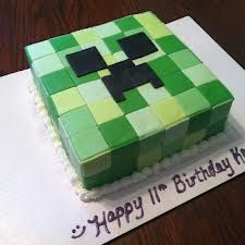 minecraft cakes - when you click through it is a google image search of minecraft cakes.