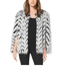 Faux Fur Cape by Michael Kors