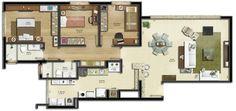 Resultado de imagem para apartamento 120 m2