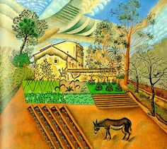 Joan Miro - Hort Amb Ase (The Vegetable Garden With Donkey) - Art Prints by Joan Miró Magritte, Spanish Painters, Spanish Artists, Harlem Renaissance, Dali, Canvas Art Prints, Oil On Canvas, Bel Art, Joan Miro Paintings