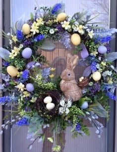 """""""SIGNS OF SPRING"""" -  Vintage Chic Easter Egg Wreath Decoration, $ 149.95 by DecorClassicFlorals on Etsy"""