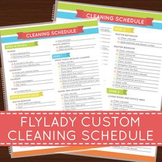 Flylady Custom Cleaning Schedule Laminated Insert | Home Management / Erin Condren / Plum Paper Planner on Etsy, $16.67 CAD