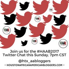Want to chat about substantial issues that affect bloggers? Check out the #HAAB2017 Twitter Chats during June 2017. Online Portfolio, Web Design, Sunday, Social Media, Content, Twitter, Instagram Posts, Houston, Campaign