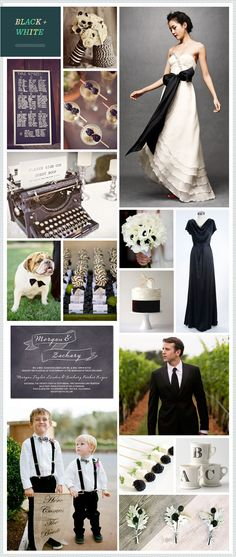 Black + White wedding inspiration