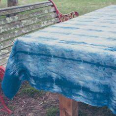 BIND AND FOLD | TABLE CLOTH | SHIBORI INDIGO