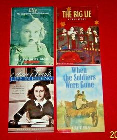 Chapter Books Lot of 4 Anne Frank History Holocaust Jewish History For Kids, Anne Frank, Chapter Books, True Stories, Good Books, Writing, Children, Young Children, Boys