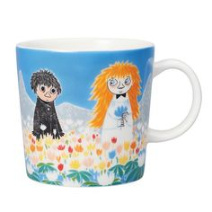 "Moomin Mugs from Arabia – A Complete Overview Friendship / Ystävyys The motif comes mainly from the story ""Who Will Comfort Toffle? The mug is sold only in Finland. Moomin Shop, Moomin Mugs, Moomin Valley, Tove Jansson, Beautiful Series, Funny Mugs, Kitchen Items, Finland, Scandinavian Design"