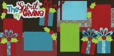The spirit of giving Christmas Scrapbook Layouts, Birthday Scrapbook, Scrapbooking Ideas, Scrapbook Sketches, Scrapbook Albums, Giving, Mini Albums, Xmas, Symbols