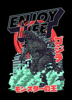 Design Kaos, Tee Design, Japan Graphic Design, Graphic Design Illustration, Gas Mask Art, Godzilla Wallpaper, Japanese Tattoo Art, Dope Wallpapers, Automotive Design