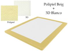 Base Tapizada Polipiel Beig + 3D Blanco