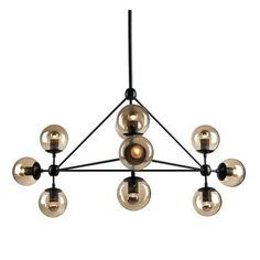 Designer Lighting Melbourne : Replica Jason Miller Modo Chandelier - 10 Bulb
