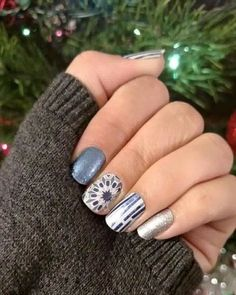Love this mixed mani. fountain of Youth, Fractal, On Holiday & Diamond Dust Sparkle. ❤️ https://chapanne.jamberry.com/au/en/ #jamberry #nails