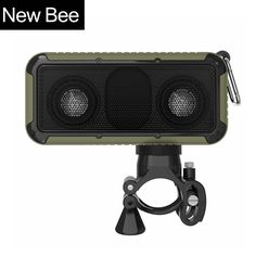 New Bee Outdoor Portable Waterproof Wireless Bluetooth Speaker with Microphone 3.5 Jack NFC Bicycle Mount LED Flashlight Hook Price: USD 50   United States