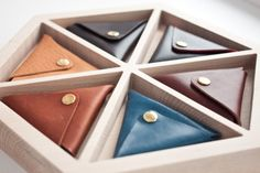 http://chicerman.com  northwardhandcraft:  Horween Leather Triangle Coin Purse  #accessories