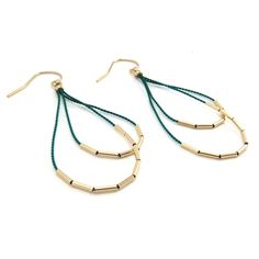 Andromeda Earrings Emerald  by Christine Trac