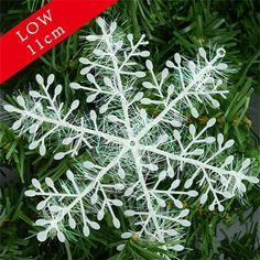 Snowflake Christmas Ornament 3pcs/1pack White Plastic Snowflakes Xmas Tree Christmas Decorations Snowflake Floco De Neve navidad