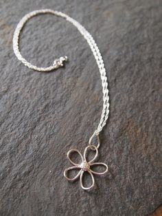 Sterling Silver Flower Necklace £25.00