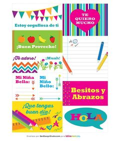 Free Printable Download En Español: Bilingual Printable Lunchbox Notes - mom.me
