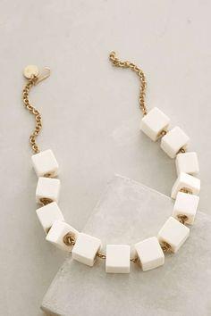 Anthropologie | Cubed Horn Necklace #Anthropologie #necklace