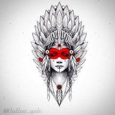 Tattoo Models für Frauen - Tattoos - # Women # for # Models # Tattoo # Tattoos Indian Girl Tattoos, American Indian Tattoos, Leg Tattoos, Body Art Tattoos, Sleeve Tattoos, Mini Tattoos, Tatoos, Tattoo Sketches, Tattoo Drawings