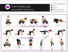 Yoga for cramps?? Really??? Who does this?... I think its fetal position all the way.. lol