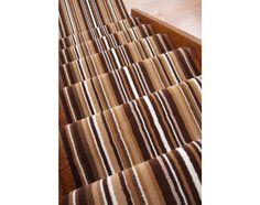 "Lima 459 Brown Striped Stair Carpet Runner 50cm (1ft 8"") Wide - Stair Carpet Striped Carpet Stairs, Striped Carpets, Stair Carpet, Cheap Carpet Runners, Brown, Hallway Ideas, Lima, Ebay"