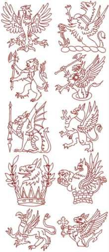 Advanced Embroidery Designs. Redwork >> Historical Embroidery Designs.$14.85