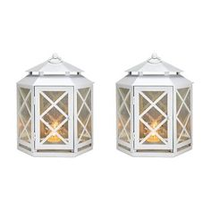 Lattice Mirrored Lantern Set
