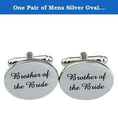 One Pair of Mens Silver Oval Wedding Groom Cufflinks Best Men's Gift (Brother of the Bride). Stylish wedding cufflinks for men Each come with a free black velvet gift pouch Make that wedding day extra special with these stunning cufflinks to suit all the main men by your side. Each cufflink has an oval shape with a stunning silver finish. So it will go with any shirt you choose to wear on that special day. Great wedding accessories Package includes: one pair of wedding cufflinks.