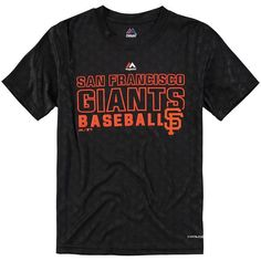 San Francisco Giants Majestic Youth Geo Plex Sublimated Cool Base T-Shirt - Black - $23.99