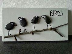 Fugle med sten