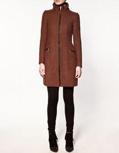 Zara Coat with Edging and Zips