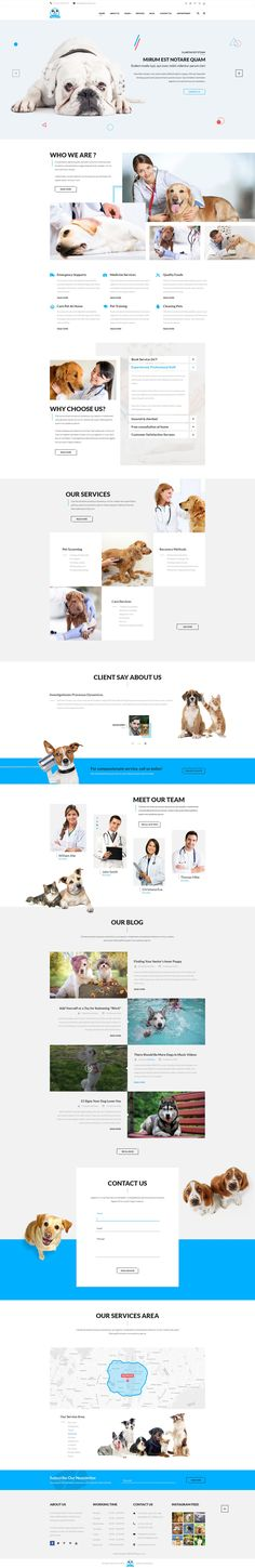 Buy Pet Service - A Pet Services PSD Template by NinjaTeam on ThemeForest. PetService is a PSD template designed specifically for pet services. This is a clean and modern template with 19 PSD . Design Ui Ux, Layout Design, Web Layout, Design Your Own Website, Beautiful Website Design, Pet Clinic, Animal Clinic, Pet Websites, Pet Services
