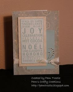 Pam's Crafty Creations: Poster Tidings - September Stamp of the Month Blog Hop #Frosted
